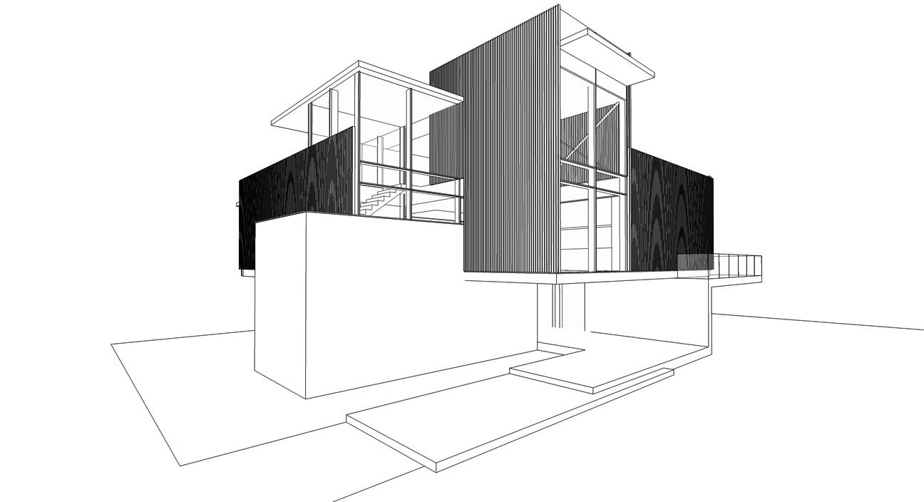 Line Art Render : Sketches visualizing architecture