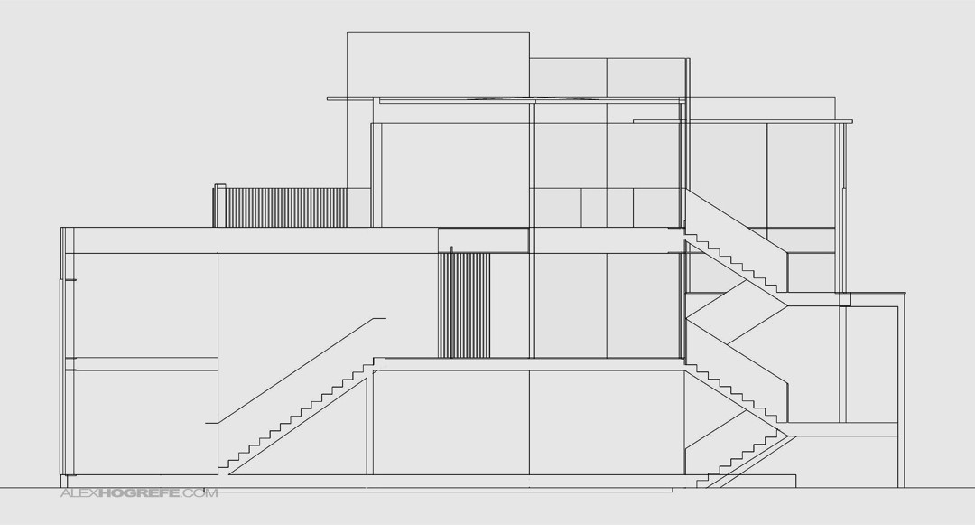Simple Front Elevation Drawing : Simple interior elevations visualizing architecture