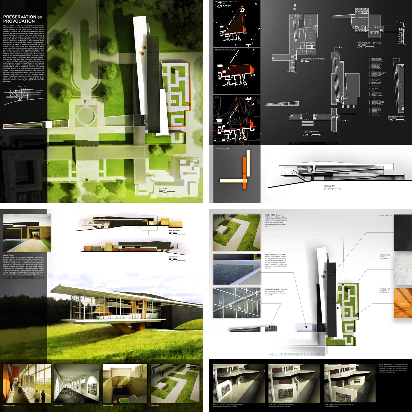 Past presentation boards part 3 visualizing architecture for Interior site