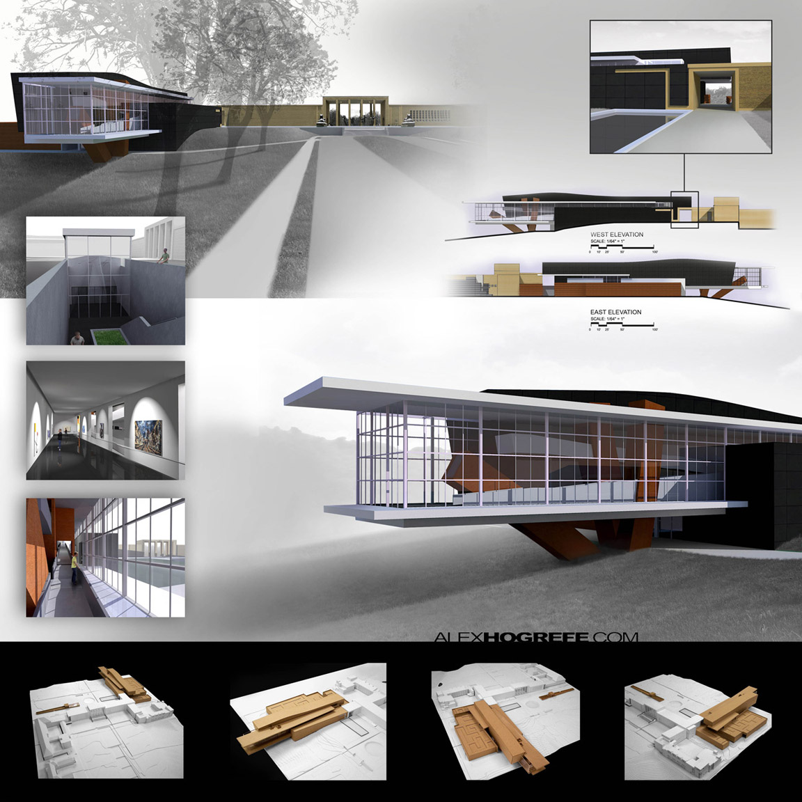 Architecture student presentation layout for Architecture student