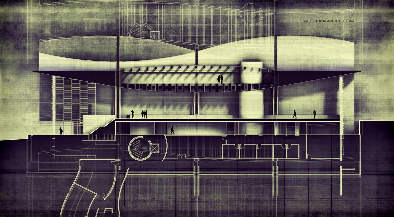Alex Hogrefe building section | visualizing architecture
