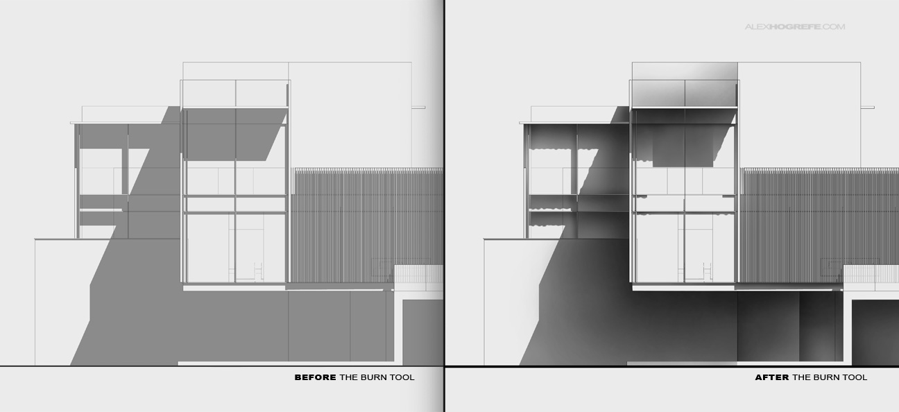 Front Elevation Texture : Exterior elevation shadow tweaking visualizing architecture