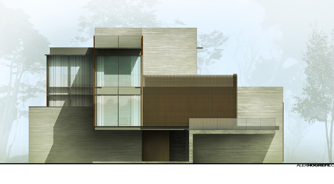 Building Elevation Plan Part - 45: Exterior Elevation: Shadow Tweaking