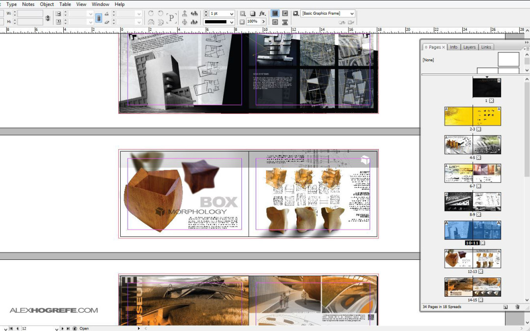 Indesign why use it visualizing architecture for Architecture portfolio dimensions