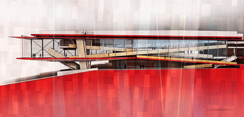 Cranbrook Building Section
