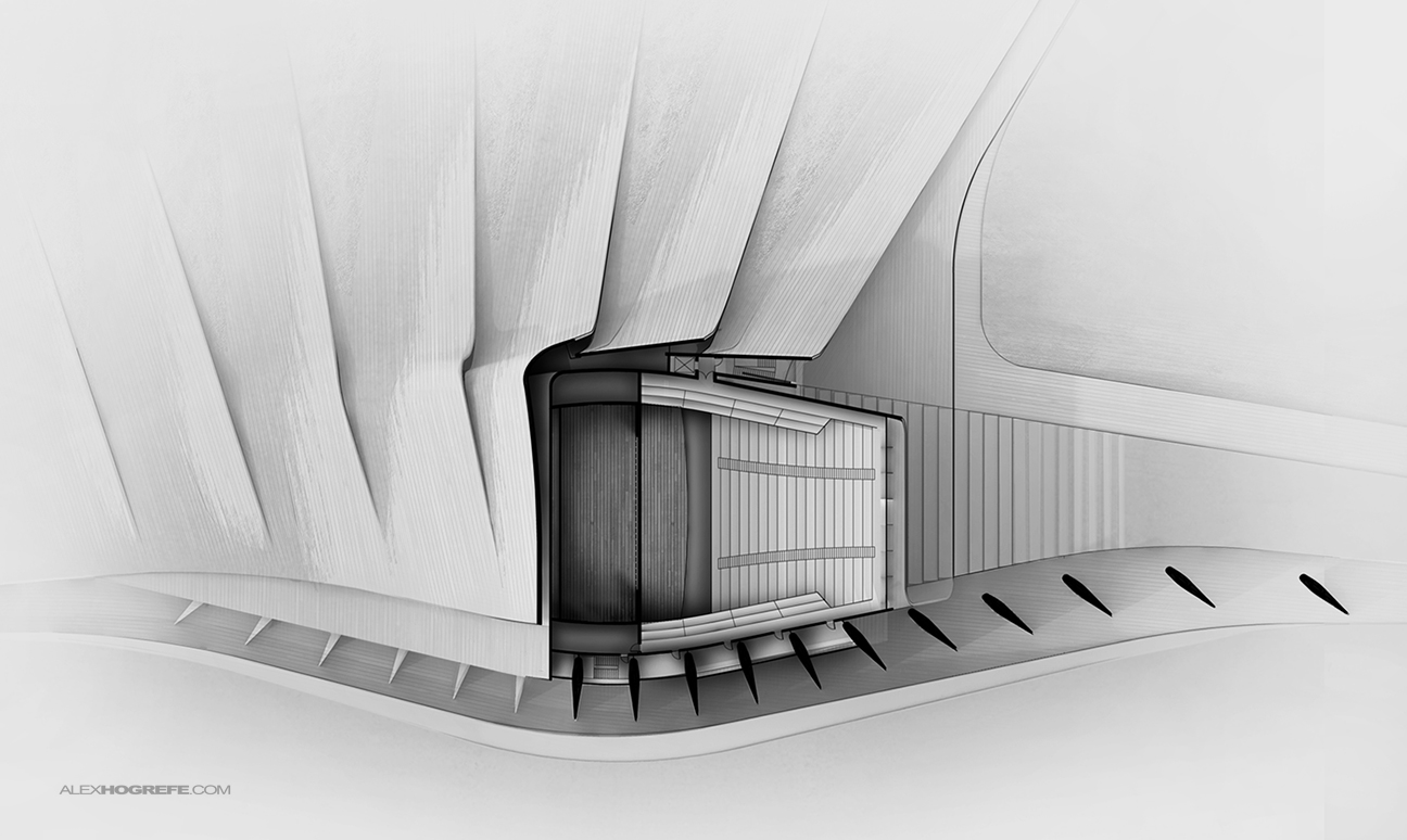 Performance Theater Rendered Plan