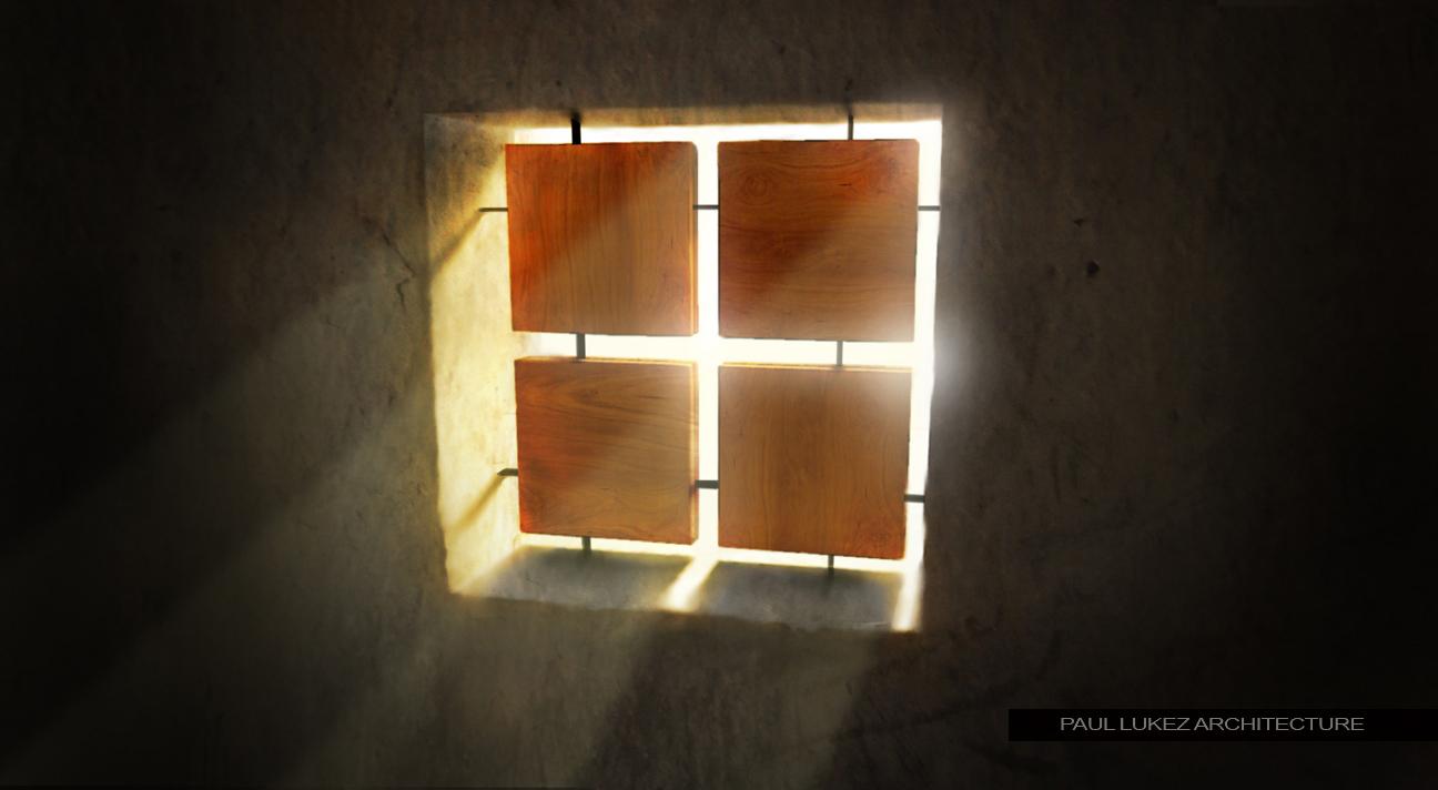 Window sun rays visualizing architecture for Sunlight windows