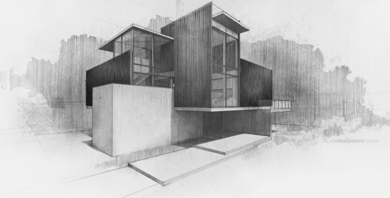Villa Digital Sketch