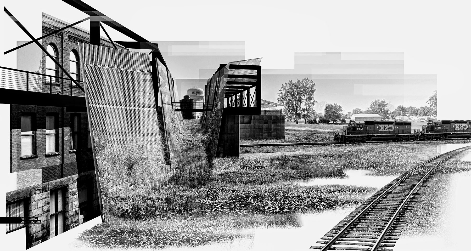 8_Train_Collage_bw