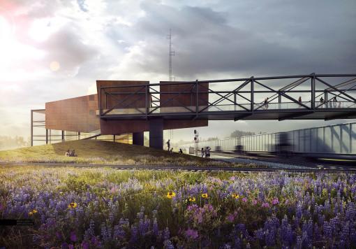 Train Pavilion Perspective
