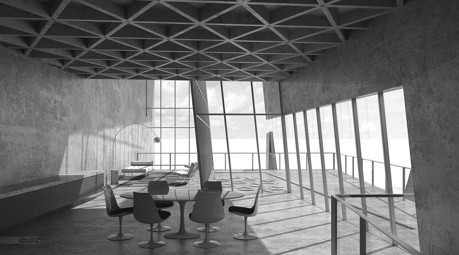 Cliff Retreat Interiors Visualizing Architecture