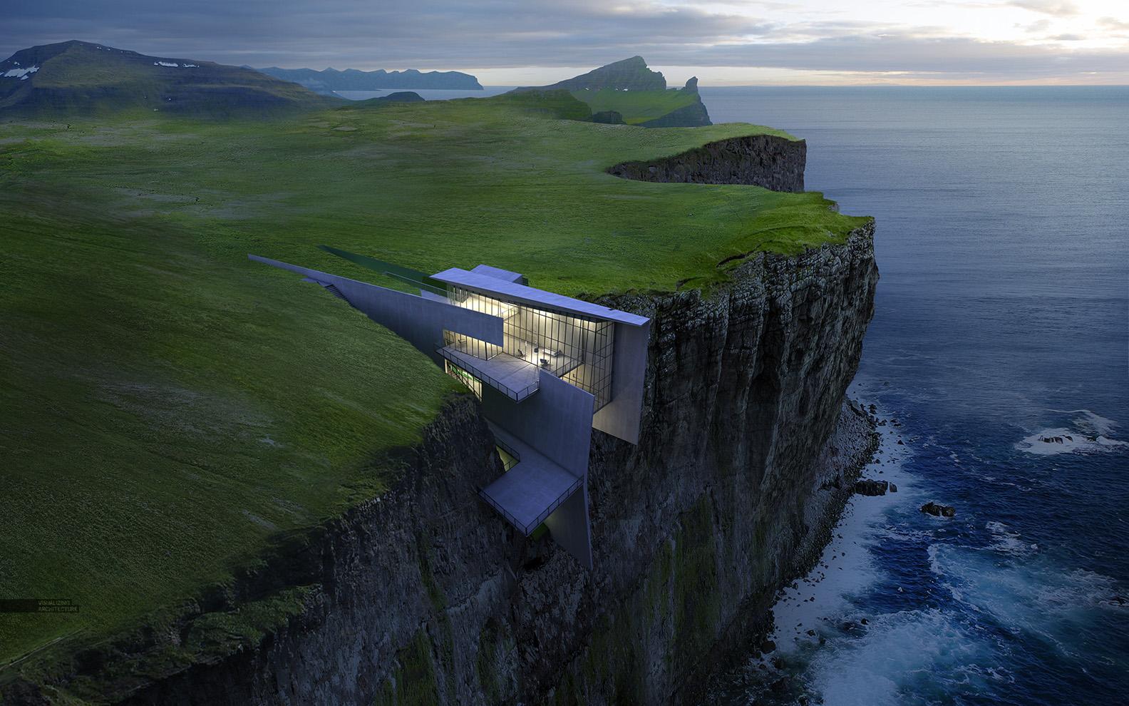 Cliff Retreat Finale Image Visualizing Architecture
