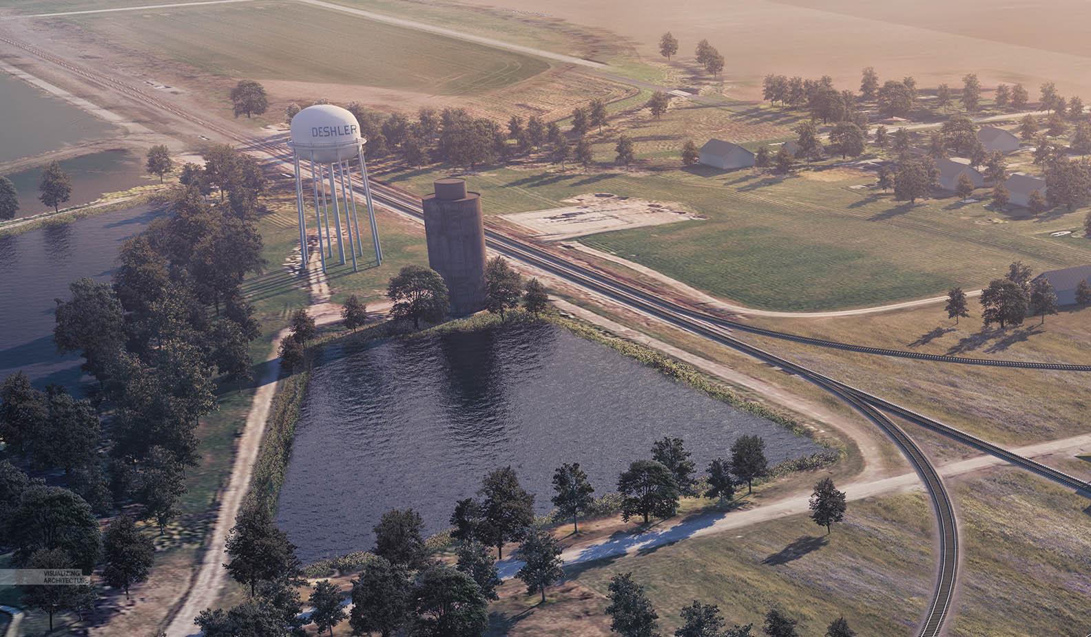 Train Pavilion Aerial | Visualizing Architecture