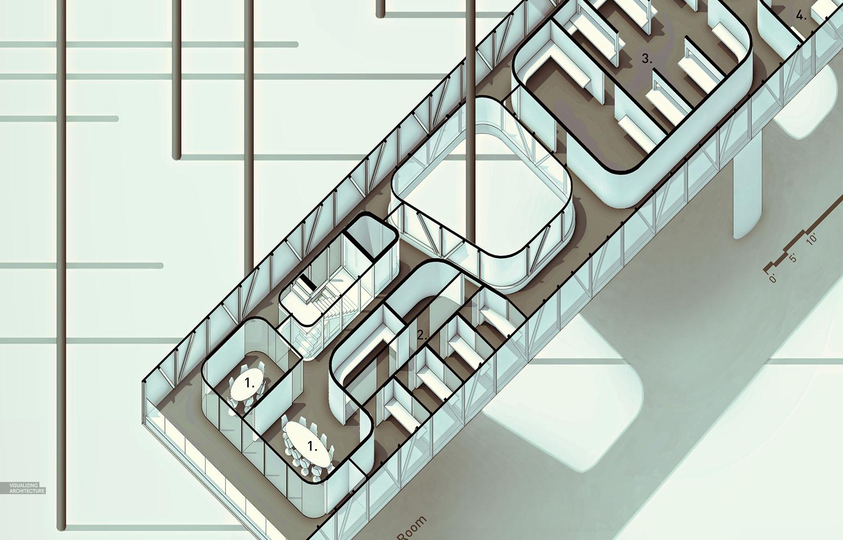 Oblique floor plans visualizing architecture for Architecture oblique