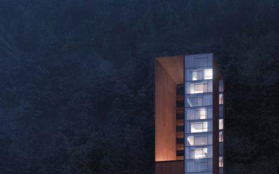 Mountain Lodge Dusk and Night